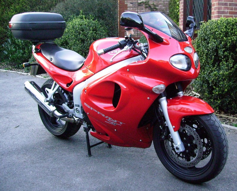 Triumph Sprint ST with SW Motech and Givi