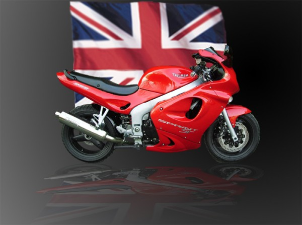 Triumph Sprint ST 955 with Union Flag