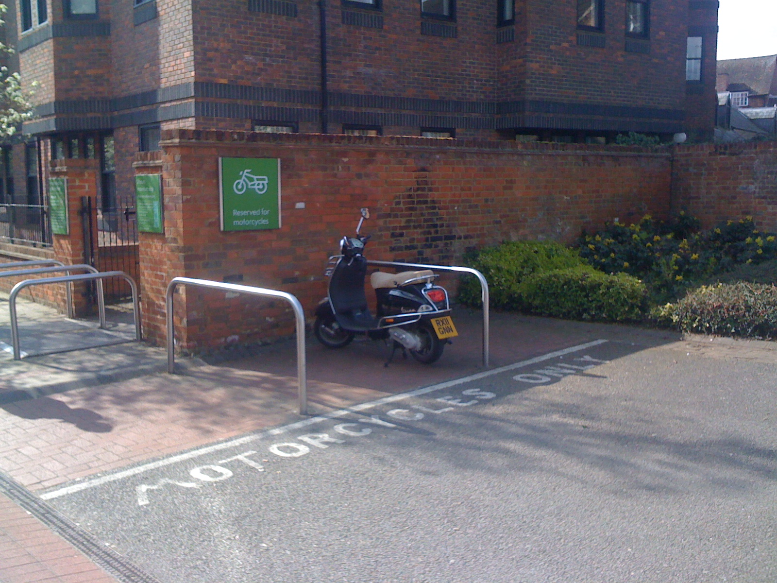 Motorcycle Parking at Waitrose Wokingham