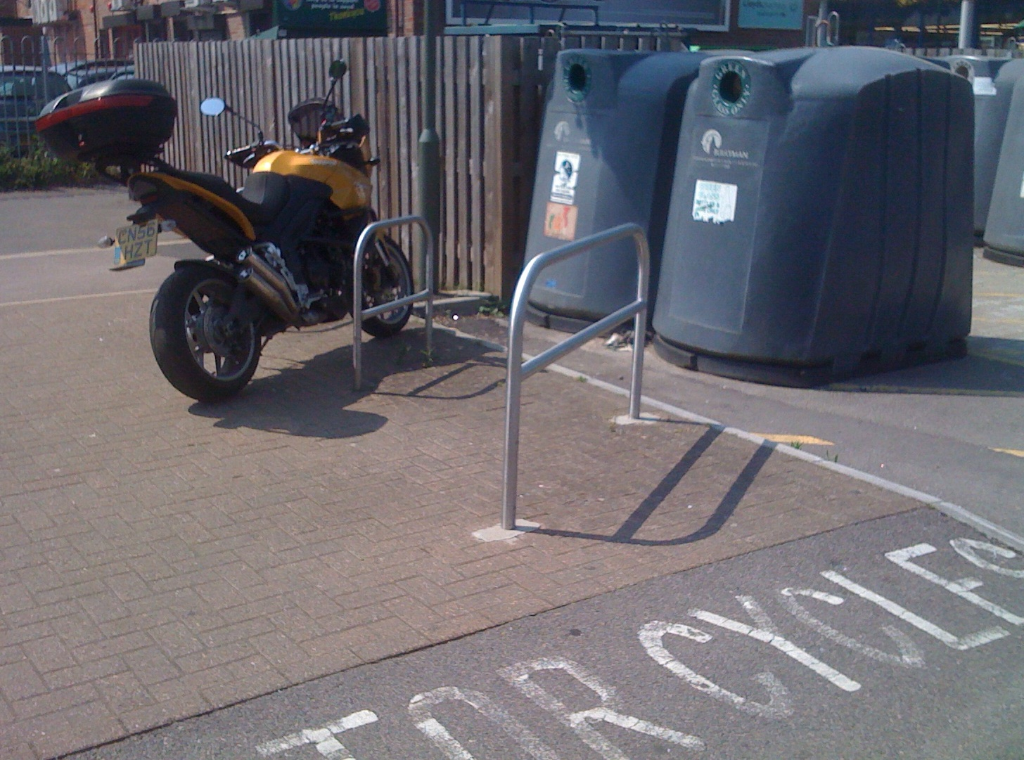 Motorcycle Parking at Woodley Precinct