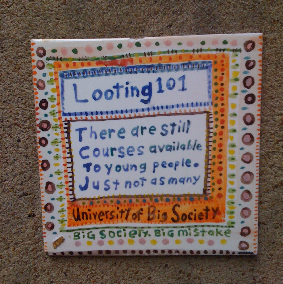 Tile Art in Camden #3 Looting 101
