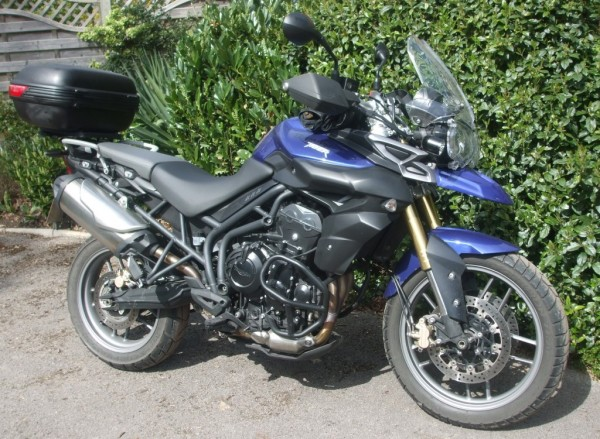 Triumph Tiger 800 with Givi