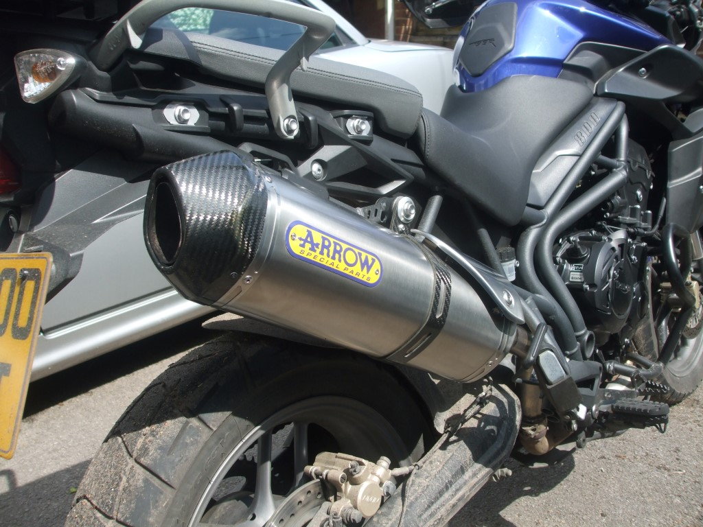 Tiger 800 Arrow Exhaust